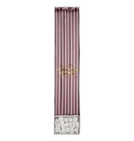 Meri Meri Long Birthday Candles - Metallic Pink