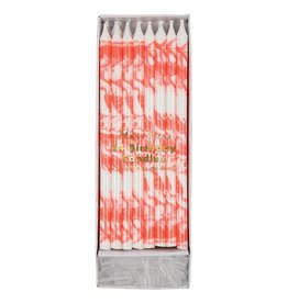 Meri Meri Birthday Candles - Coral Marbled