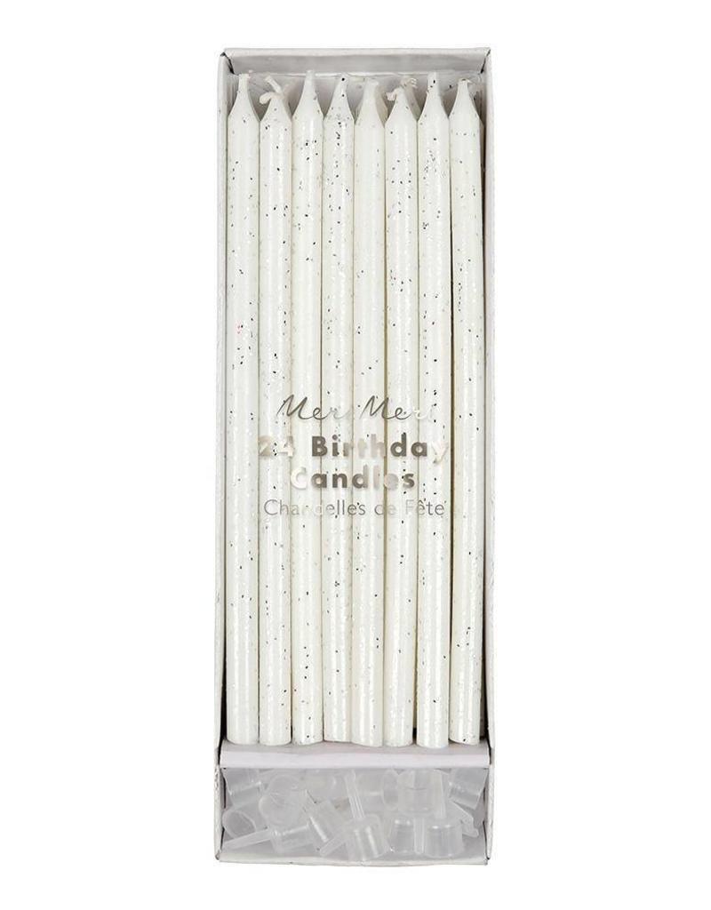 Meri Meri Birthday Candles - Silver Glitter