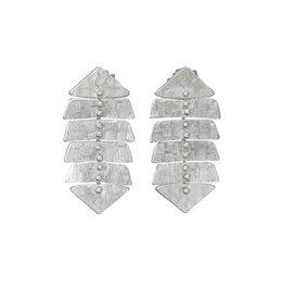 Sarah Swell Slim Fishbone Mini Stud Earrings