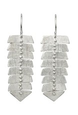 Sarah Swell Slim Fishbone Dangle Earrings