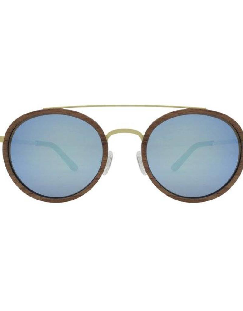 Analog Watch Co. Caden - Rosewood + Revo Lens (Blue)