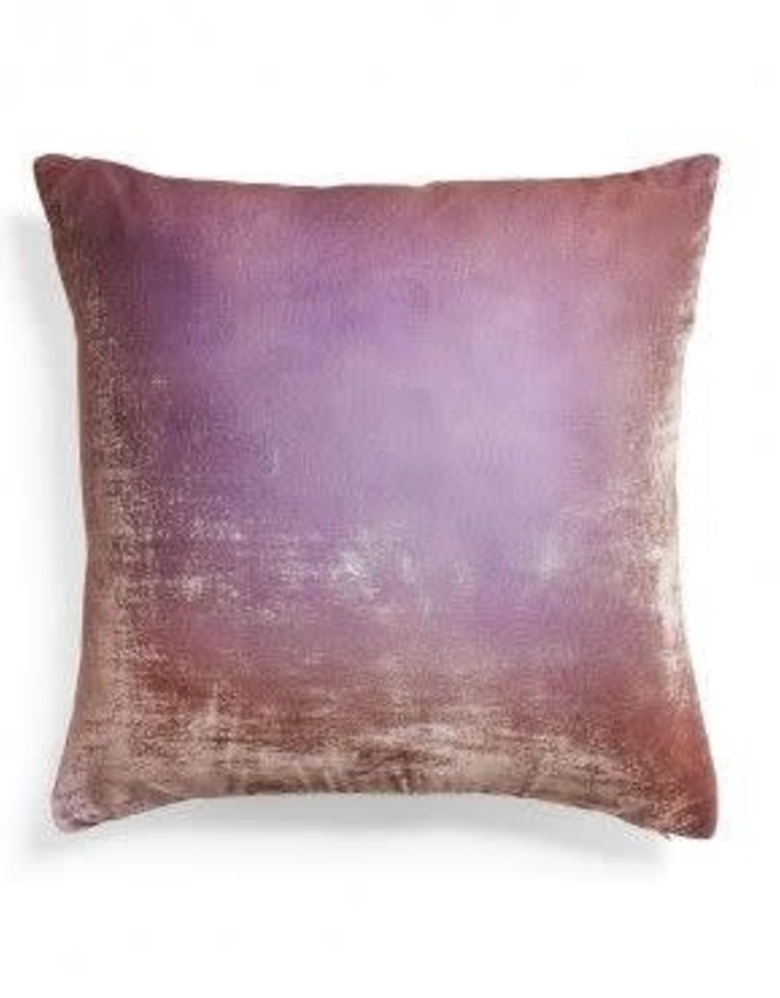 Kevin O'Brien Studio Ombre Silk Velvet Pillow - Lilac + Gold