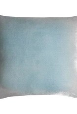 Kevin O'Brien Studio Triangles Silk Velvet Pillow - Robin's Egg