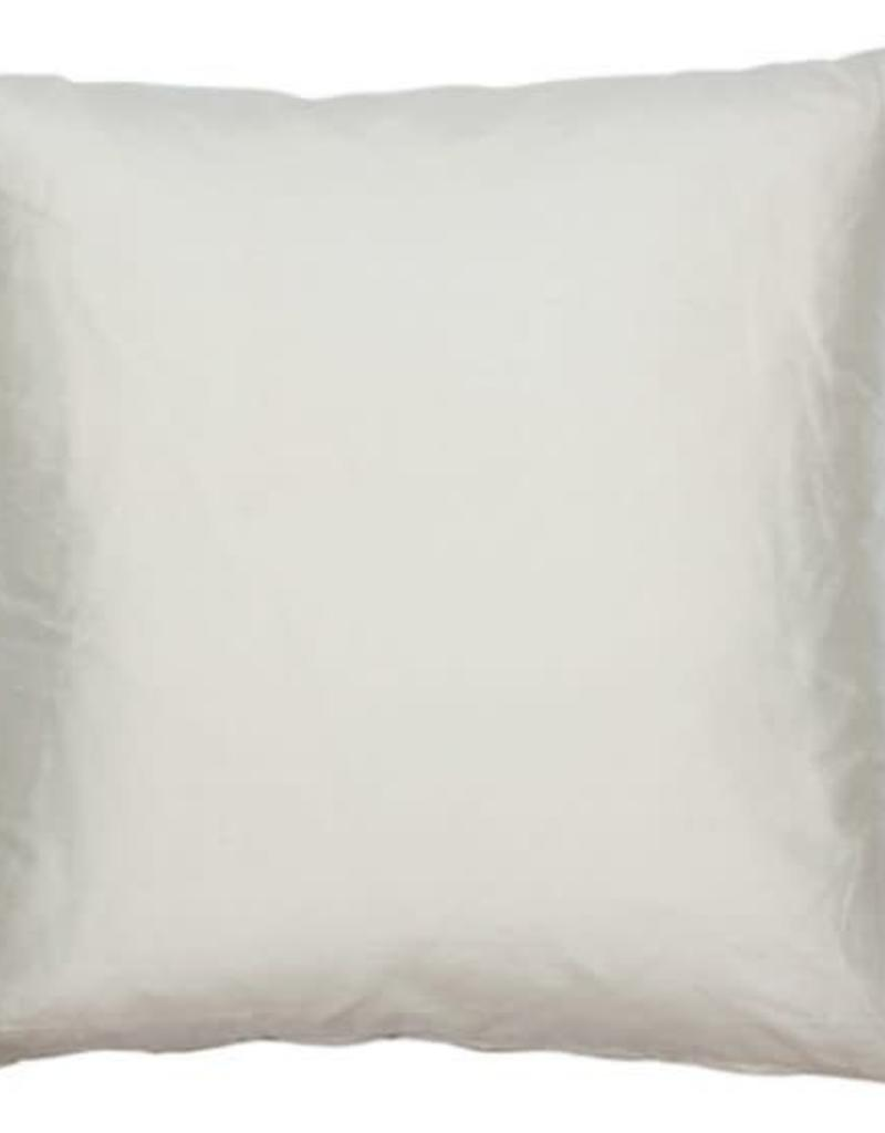 Eight Mood Dupione Square Pillow - Vanilla