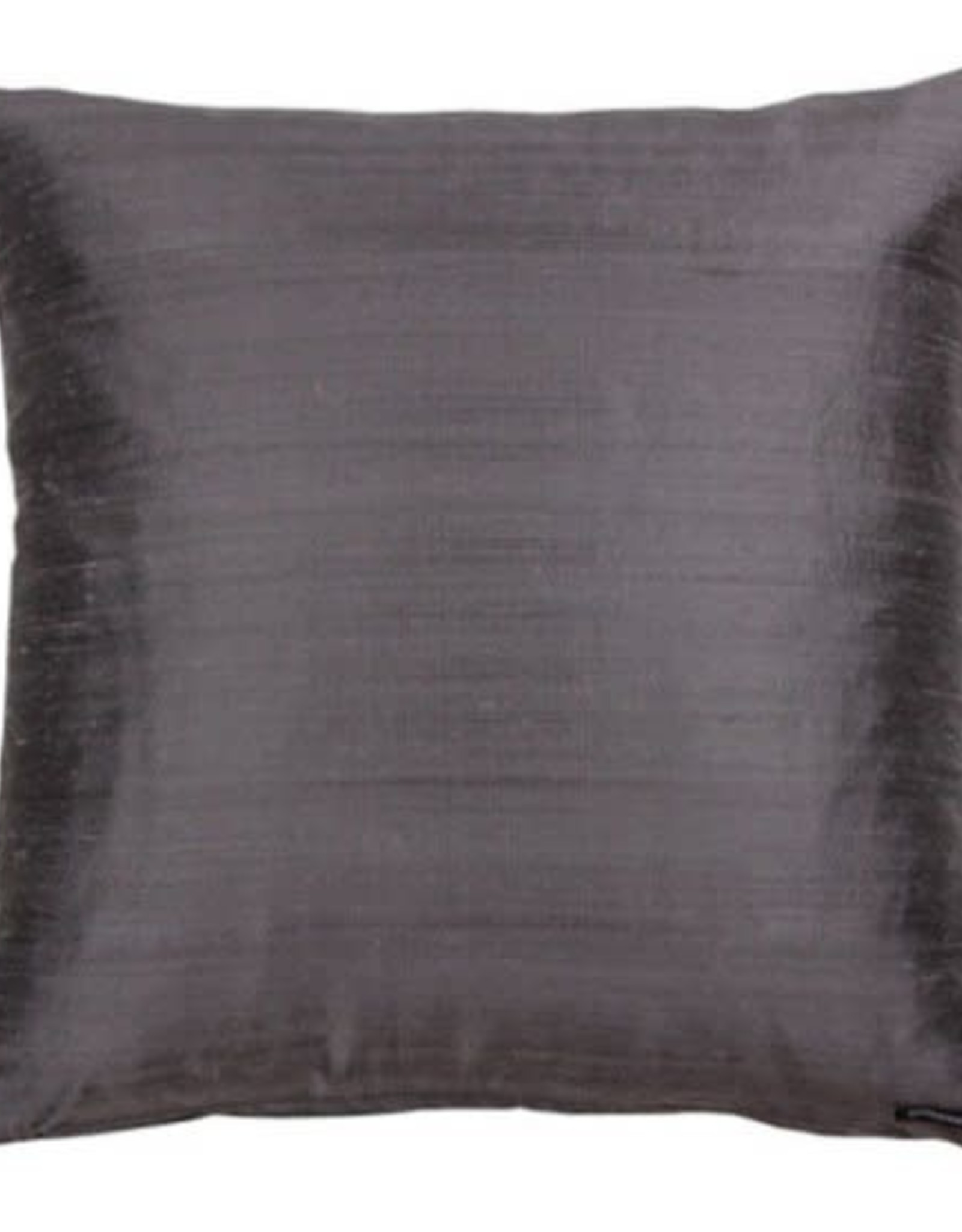 Eight Mood Dupione Square Pillow - Anthracite