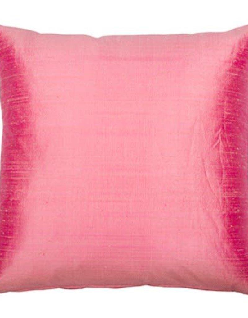 Eight Mood Dupione Square Pillow - Bubblegum Pink