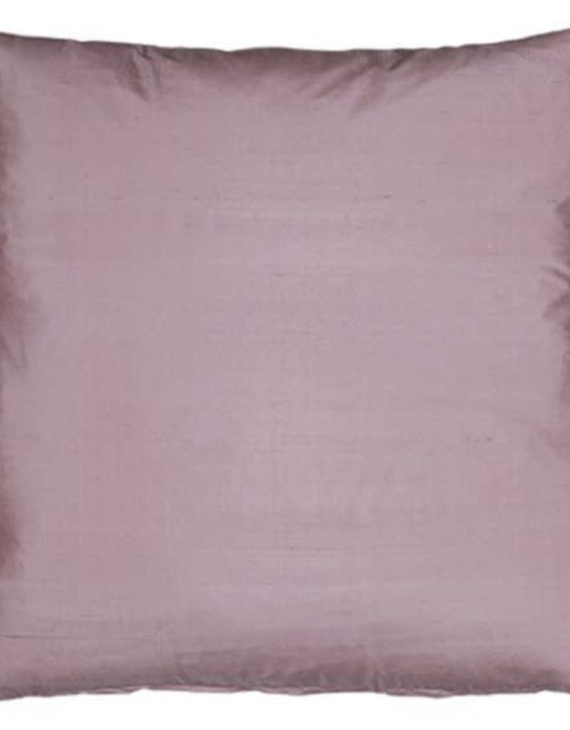 Eight Mood Dupione Square Pillow - Mauve