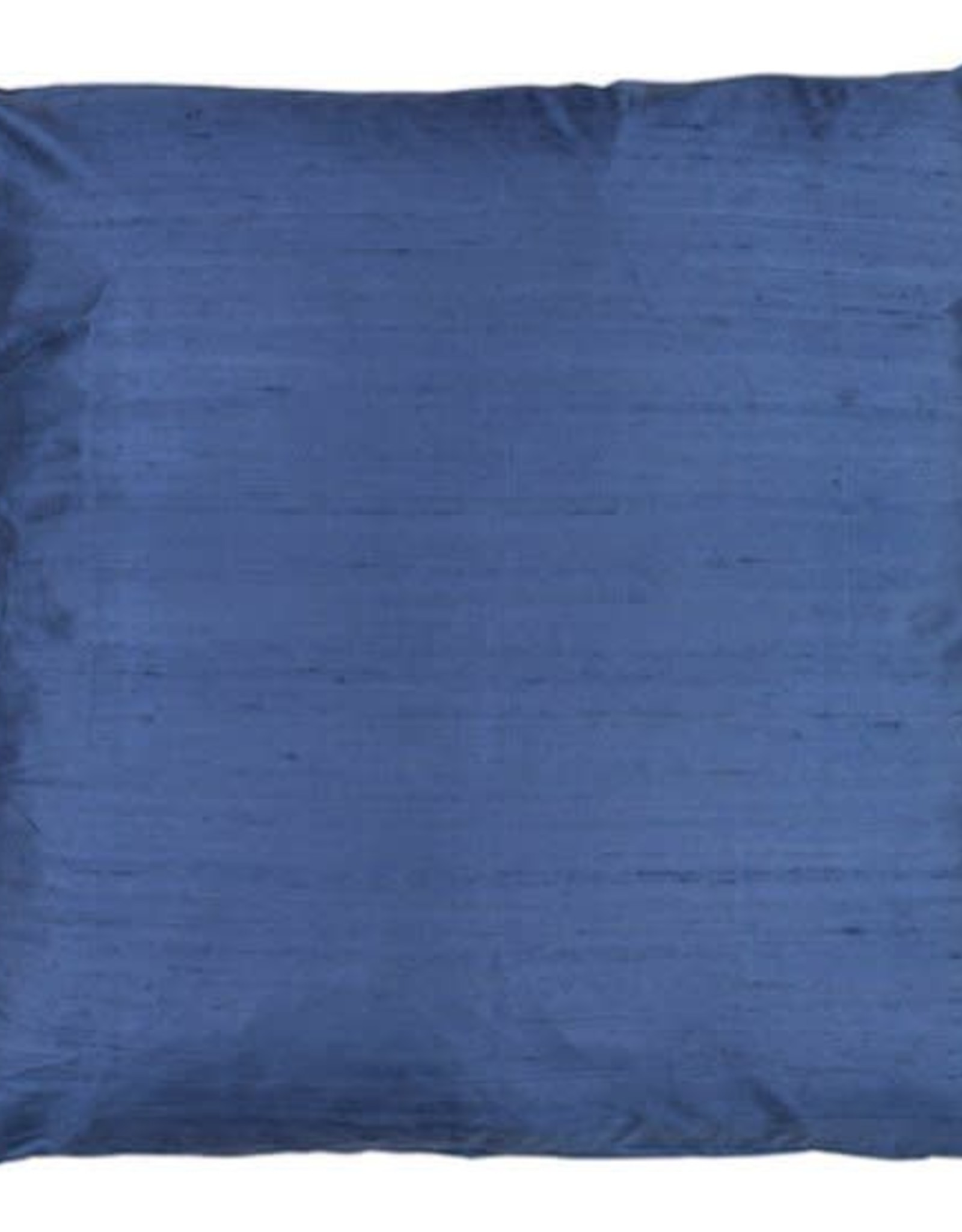Eight Mood Dupione Square Pillow - Vintage Indigo