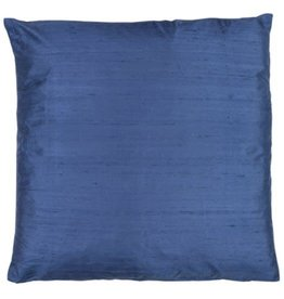 Eight Mood Dupione Square Pillow - Vintage Indigo