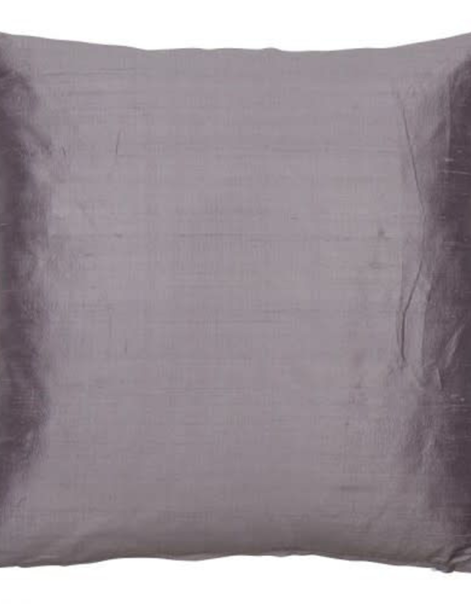 Eight Mood Dupione Square Pillow - Dusty Lilac