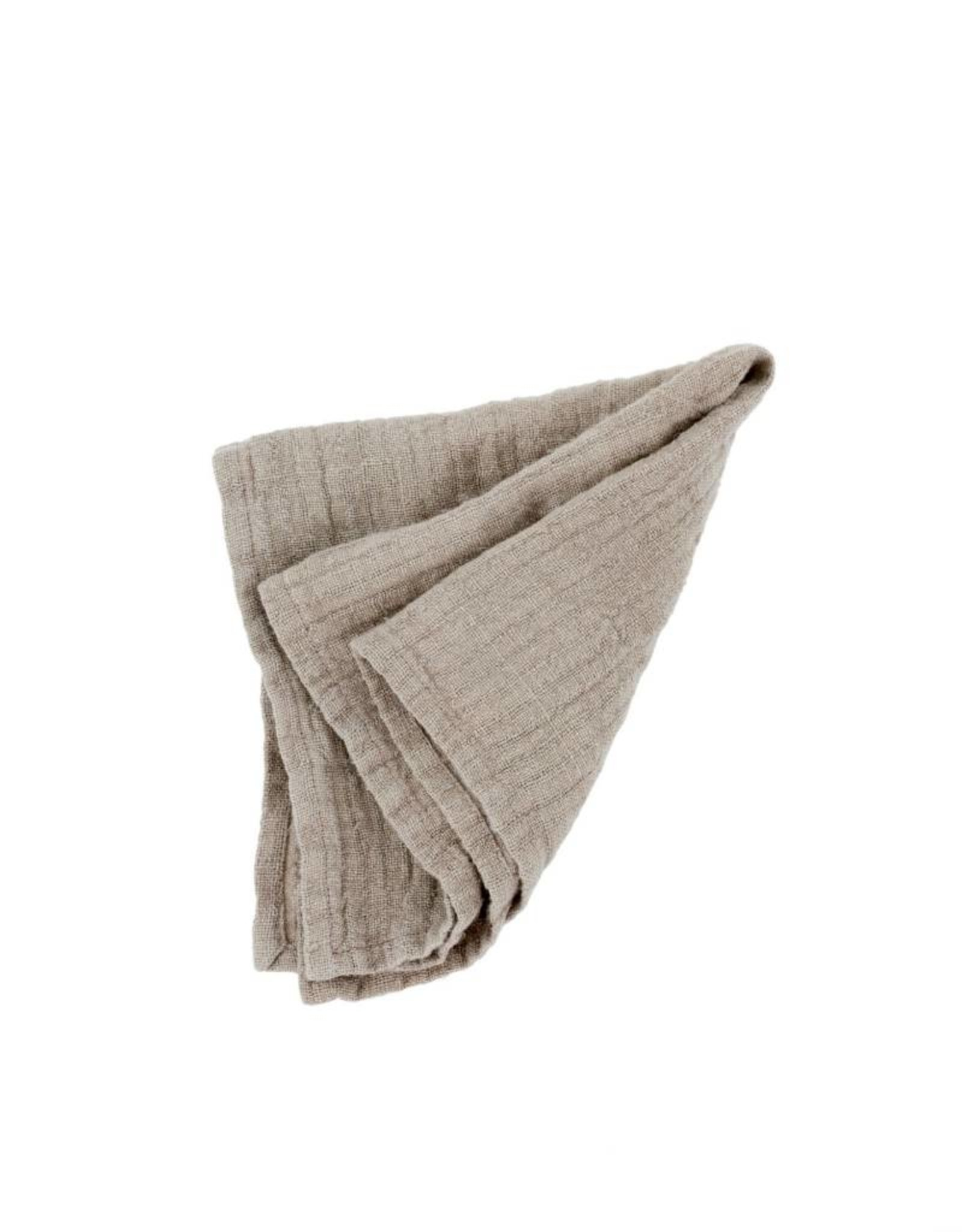 Indaba Rustic Linen Napkin - Stone