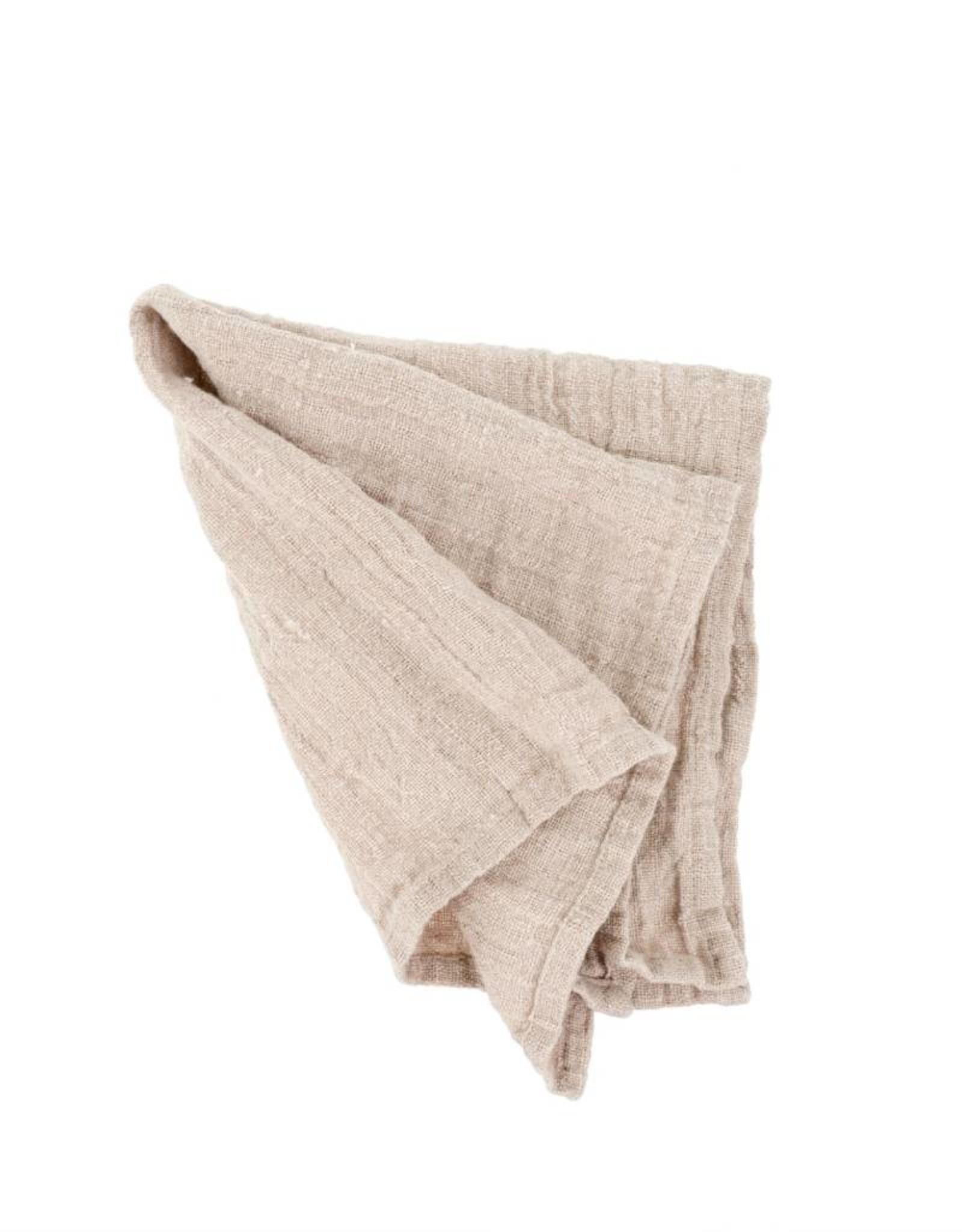 Indaba Rustic Linen Napkin - Blush