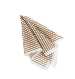 Indaba Teton Stripe Napkin - Sand
