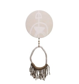 Entouquet Tribal Design Circle w/ Jute Fringe + Clay End