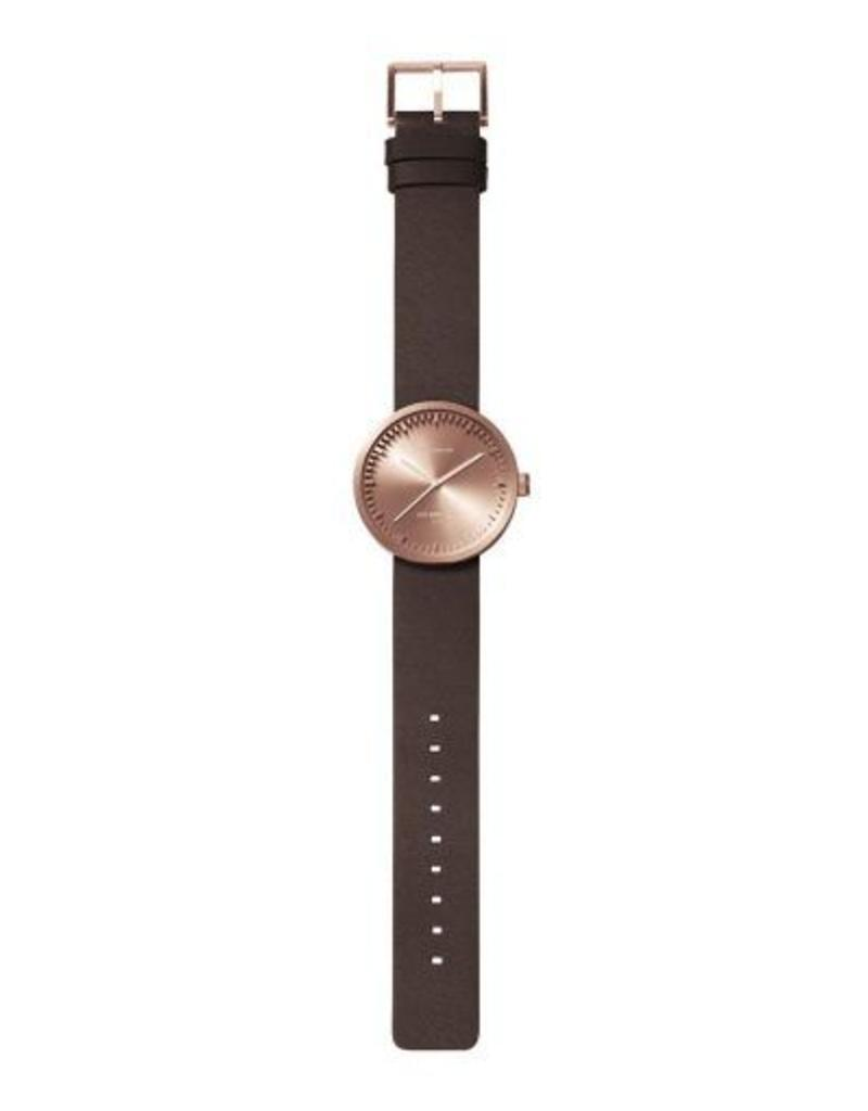 Leff Amsterdam Tube Watch D Leather - Rose Gold