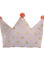 Albetta Crown Pillow with PomPoms