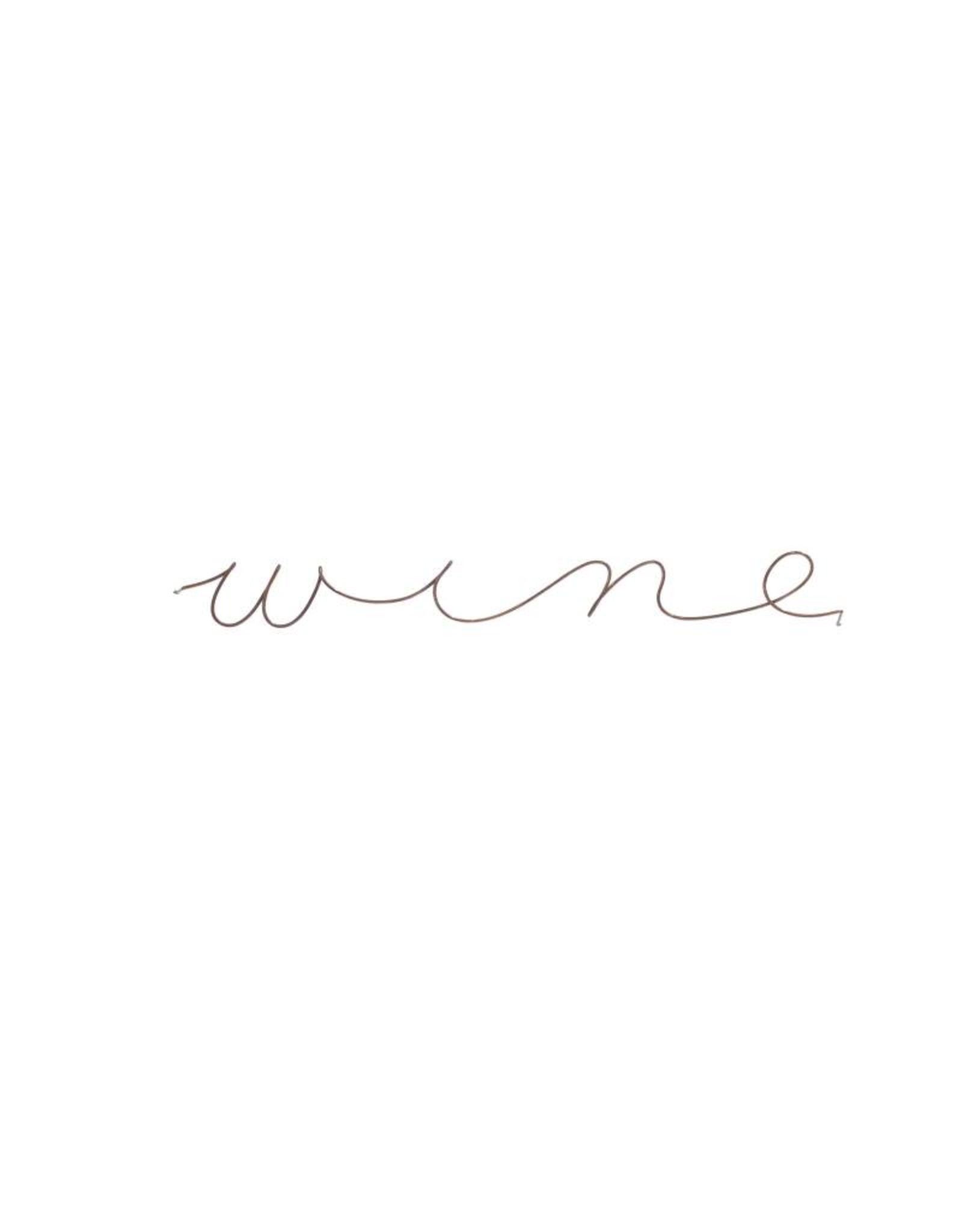 Gauge NYC 'wine' Wire Word Poetic