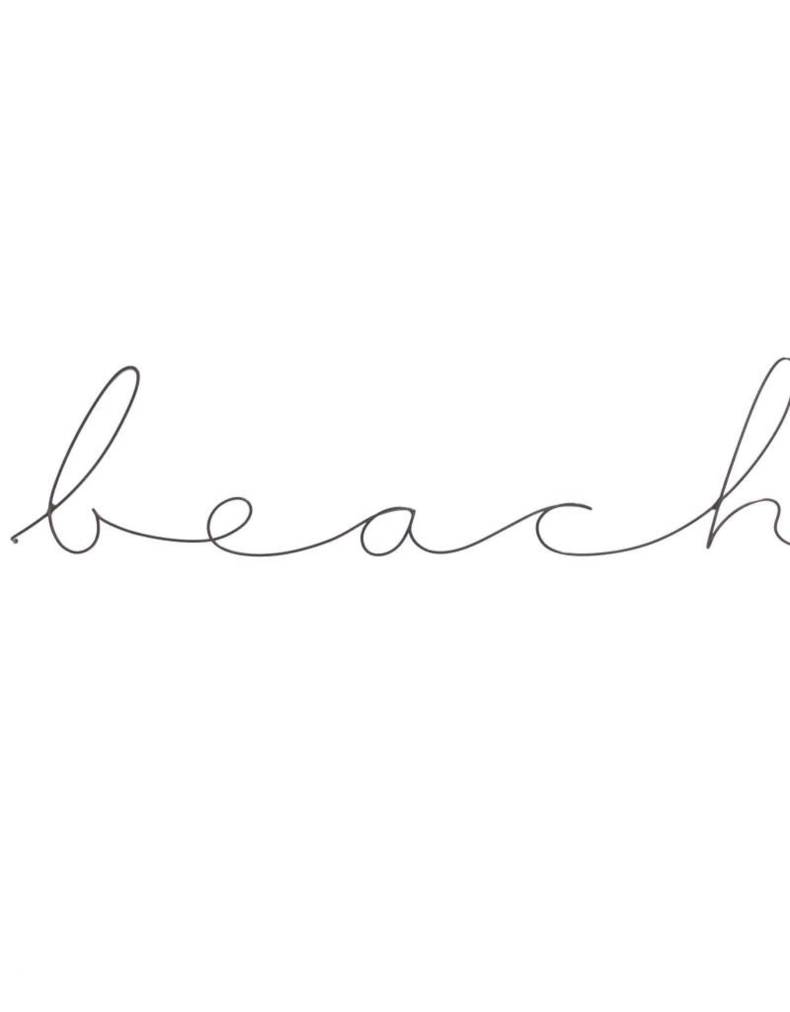 Gauge NYC 'beach' Wire Word Poetic