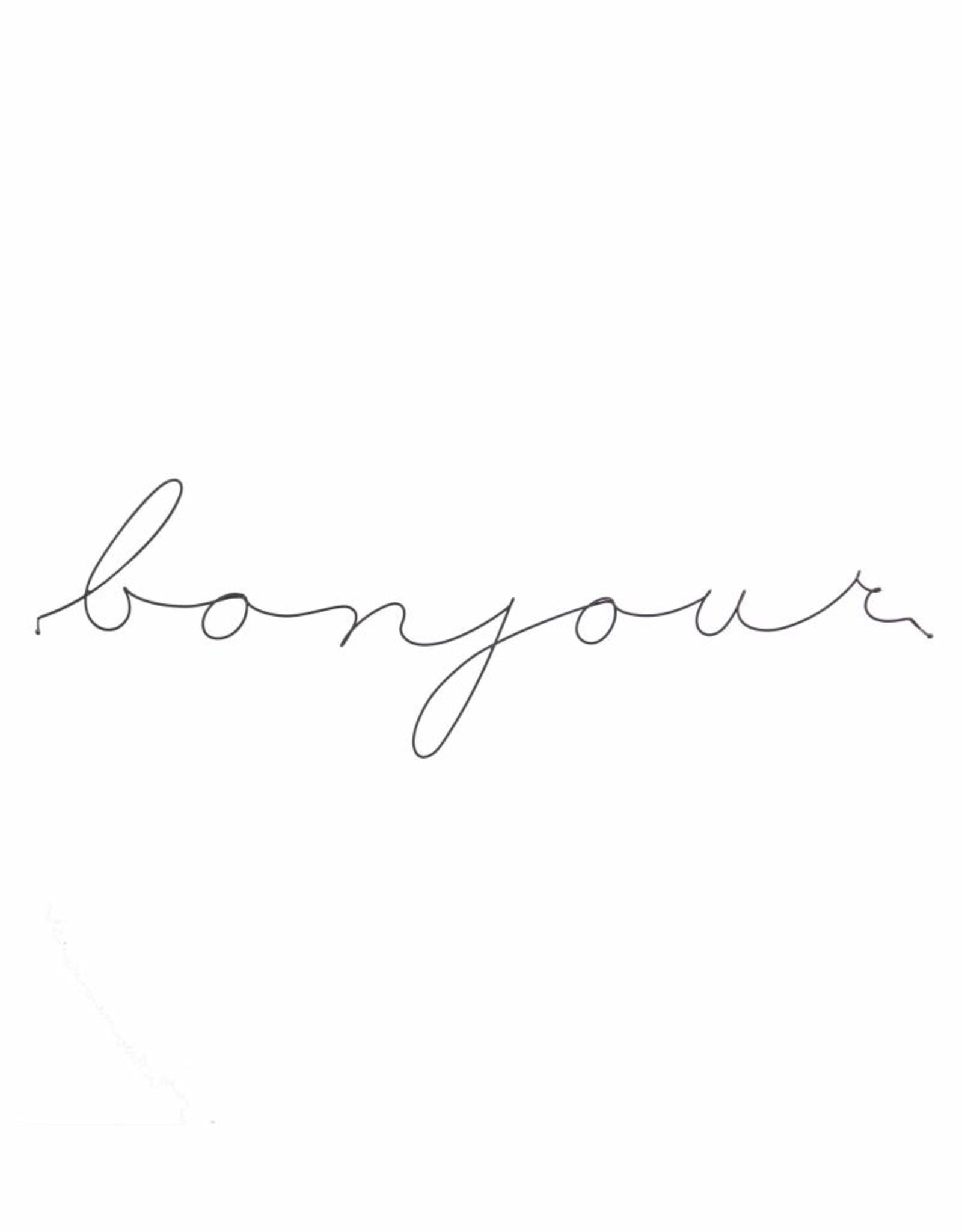 Gauge NYC 'bonjour' Wire Word Poetic