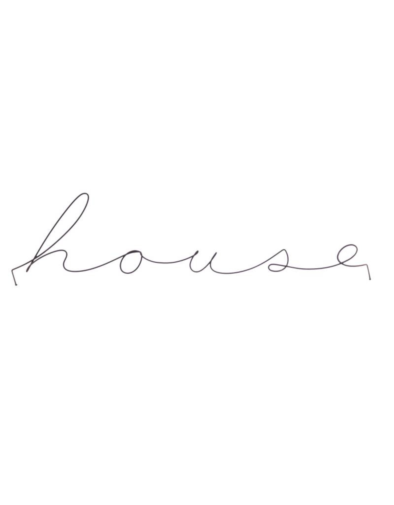 Gauge NYC 'house' Wire Word Poetic