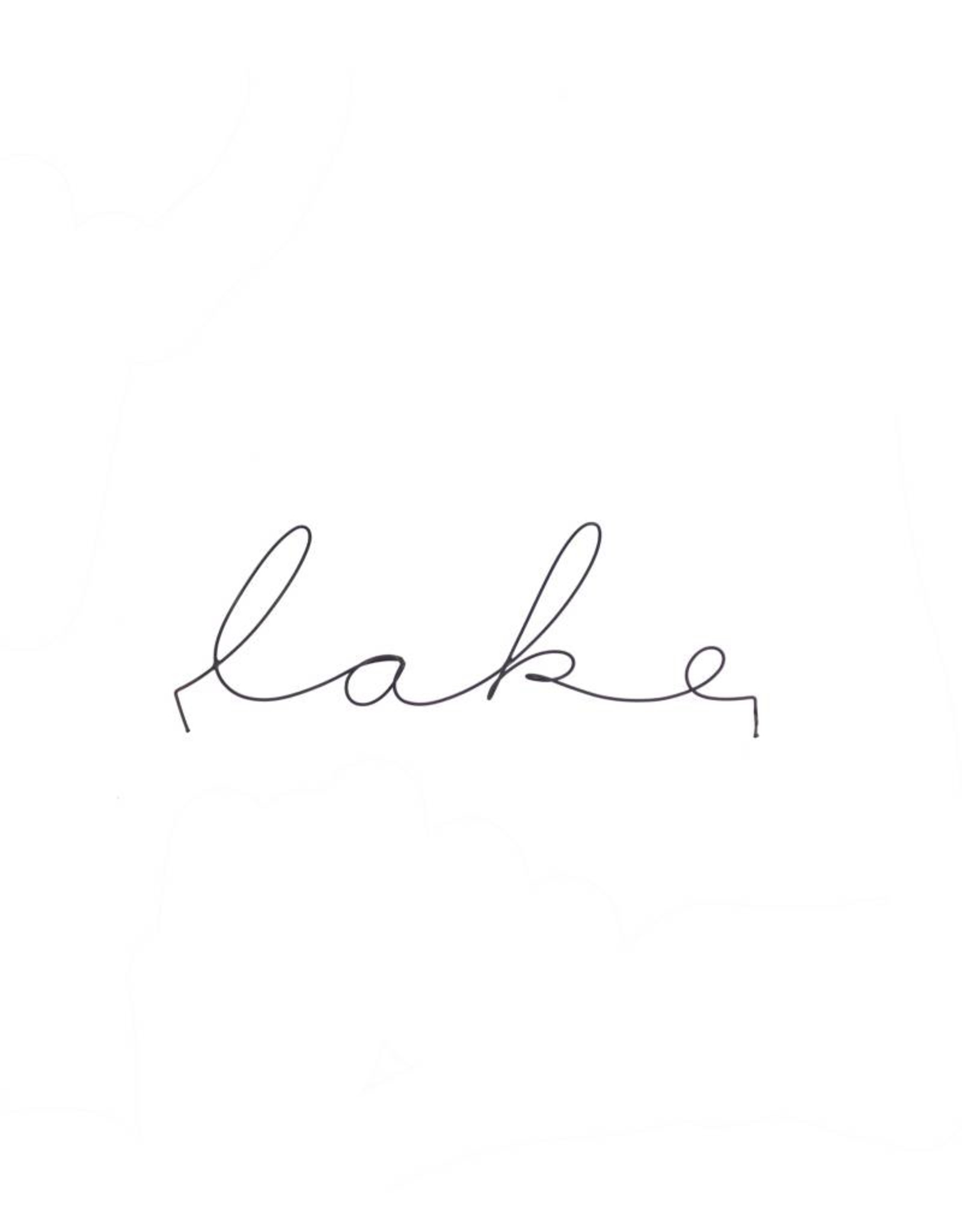 Gauge NYC 'lake' Wire Word Poetic