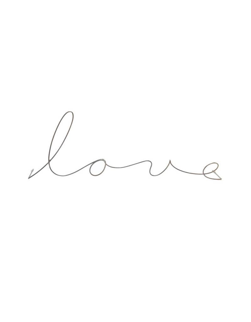 Gauge NYC 'love' Wire Word Poetic