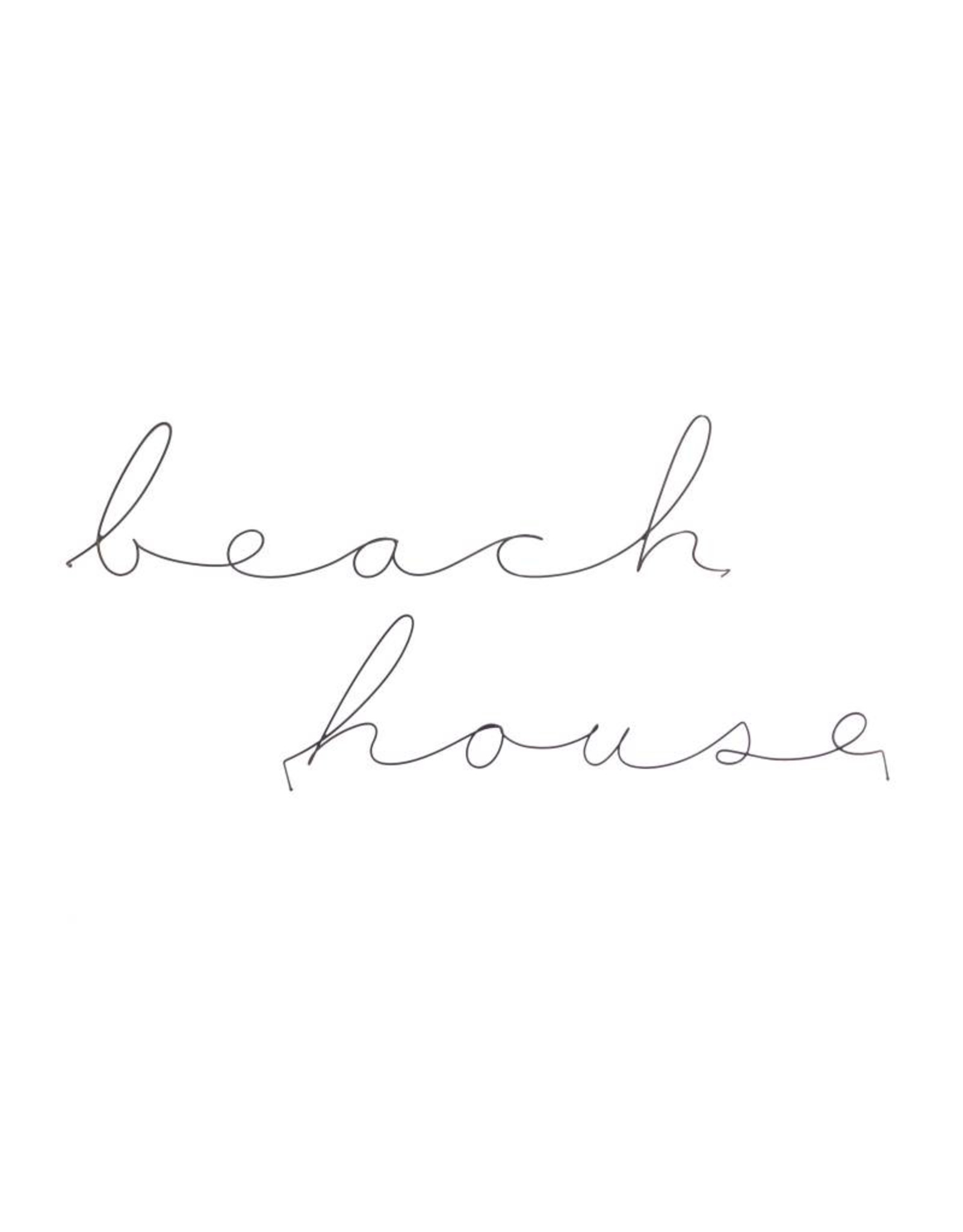 Gauge NYC 'beach house' 2 Piece Wire Word Poetic