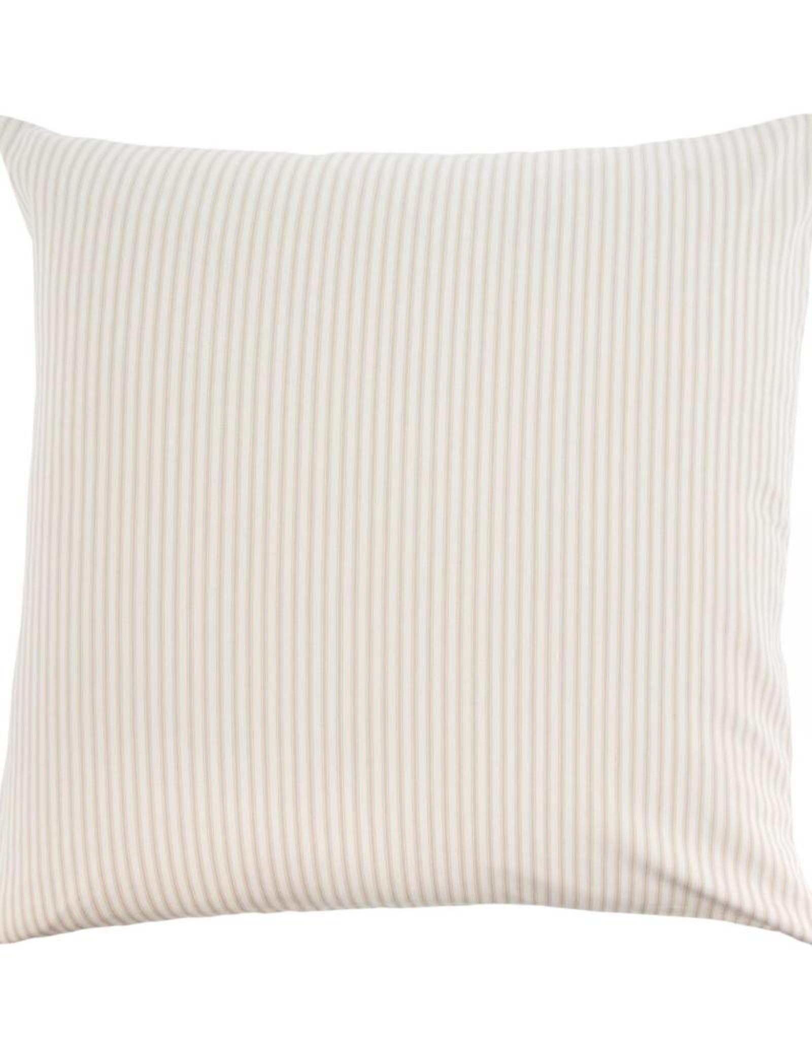 Indaba Ticking Pillow - Beige