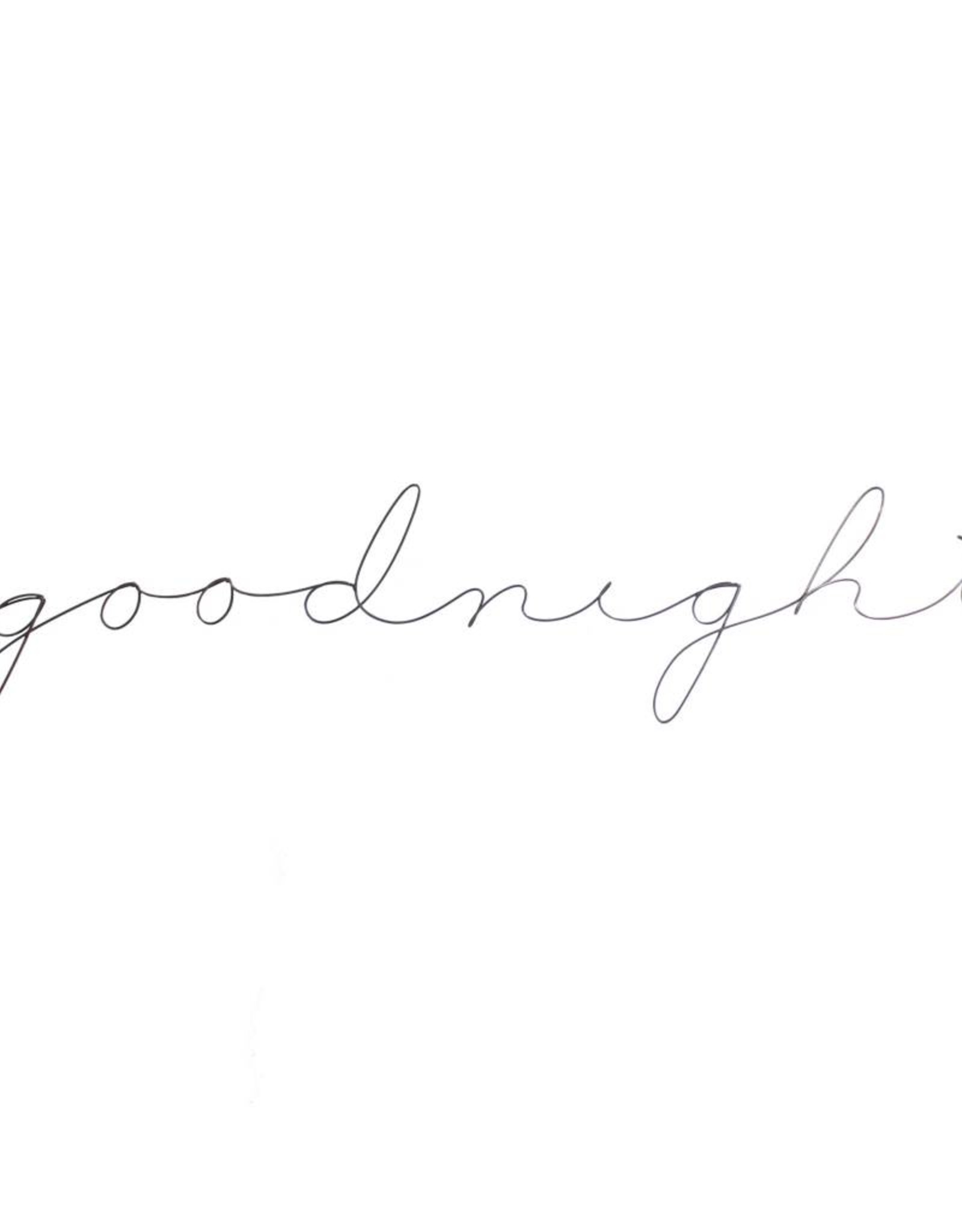 Gauge NYC 'goodnight' Wire Word Poetic