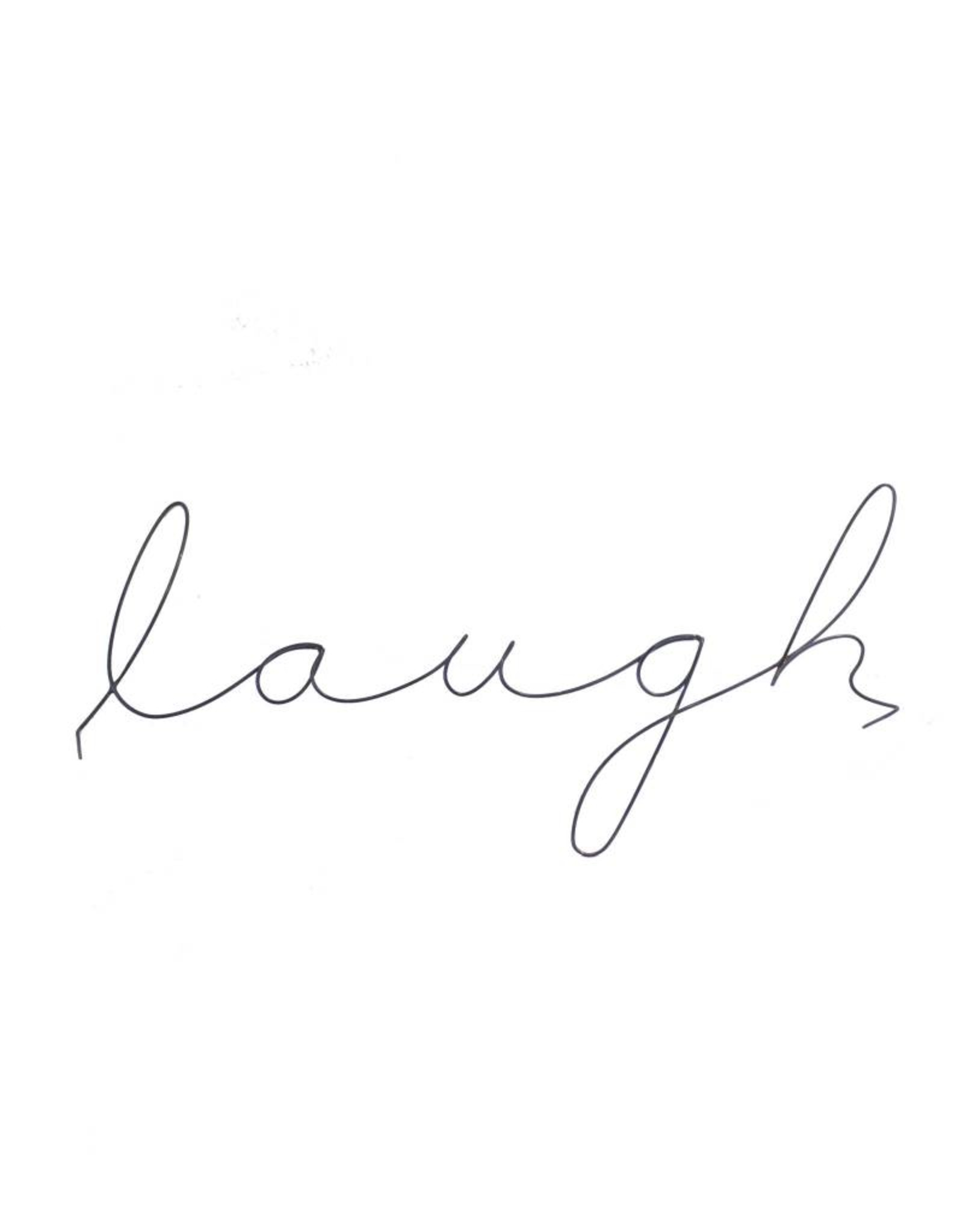 Gauge NYC 'laugh' Wire Word Poetic