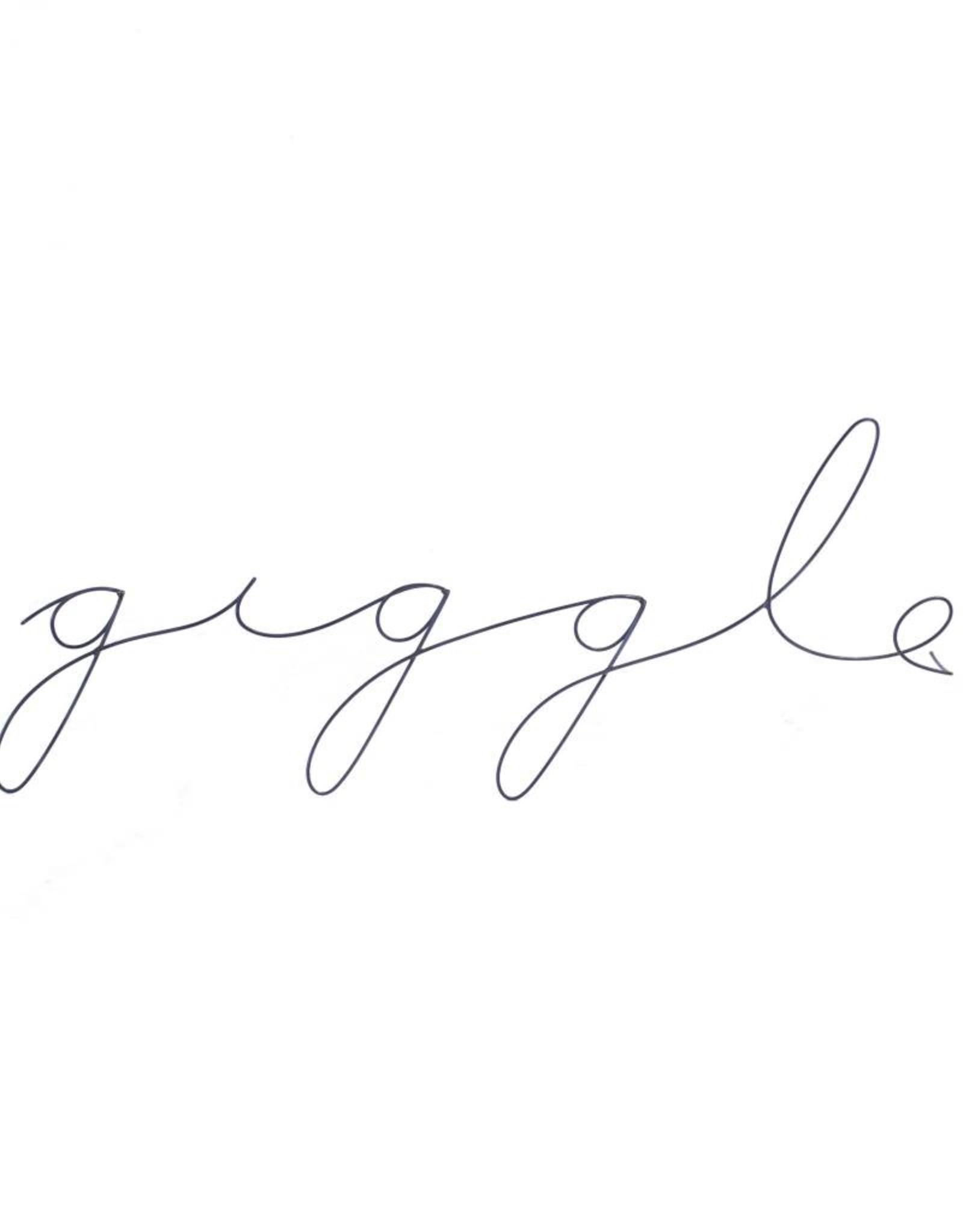 Gauge NYC 'giggle' Wire Word Poetic