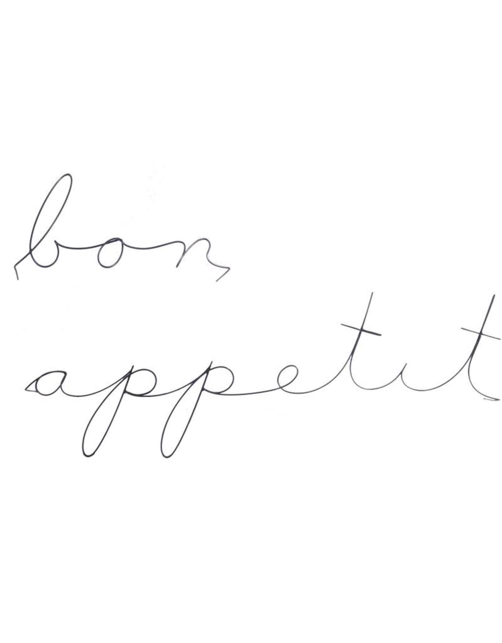 Gauge NYC 'bon appetit' Wire Word Poetic