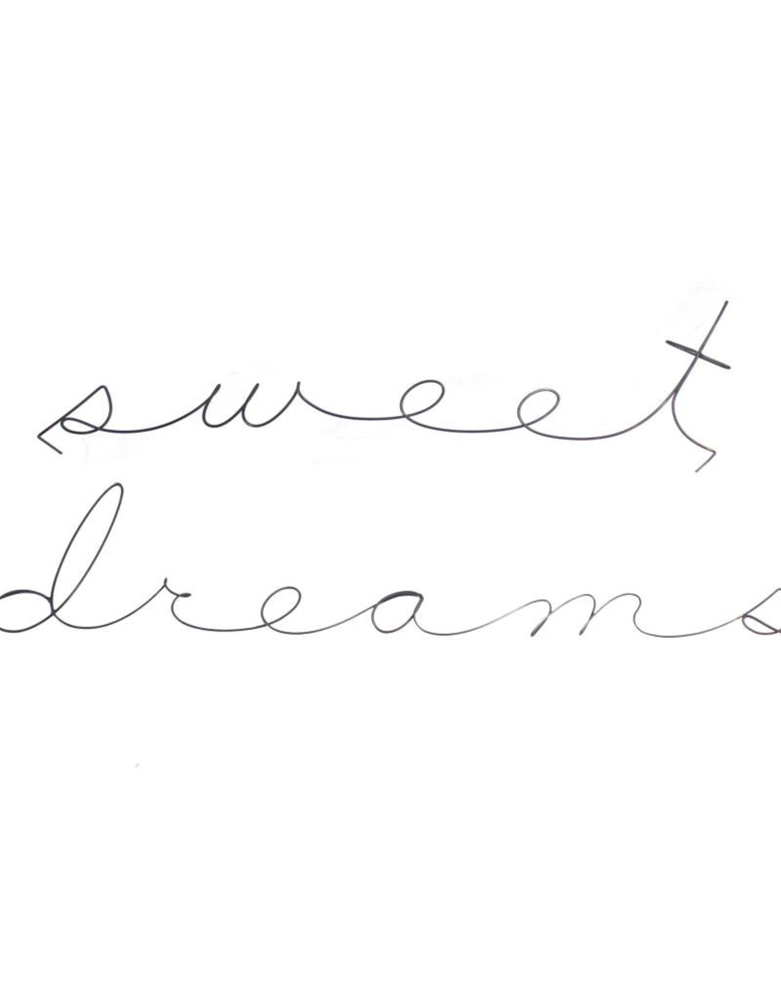 Gauge NYC 'sweet dreams' Wire Word Poetic