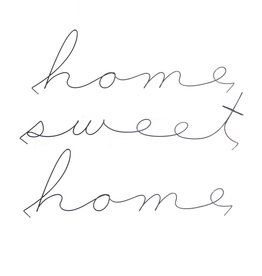 Gauge NYC 'home sweet home' Wire Word Poetic