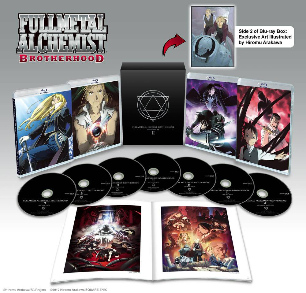 Fullmetal Alchemist Brotherhood Box Set 2 Blu-Ray