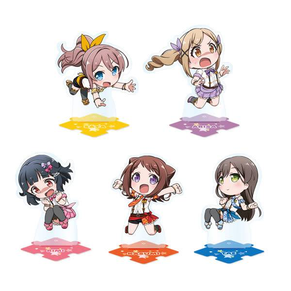 BanG Dream! Pico Tsunagete Acrylic Stand Poppin' Party Full Box