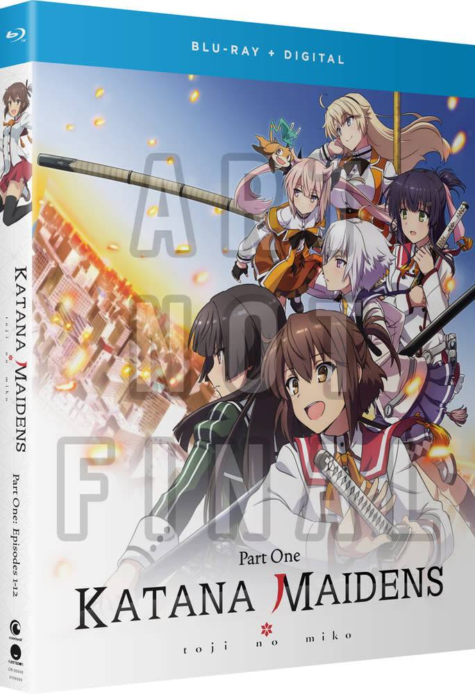 Funimation Entertainment Katana Maidens Toji No Miko Part 1 Blu-Ray