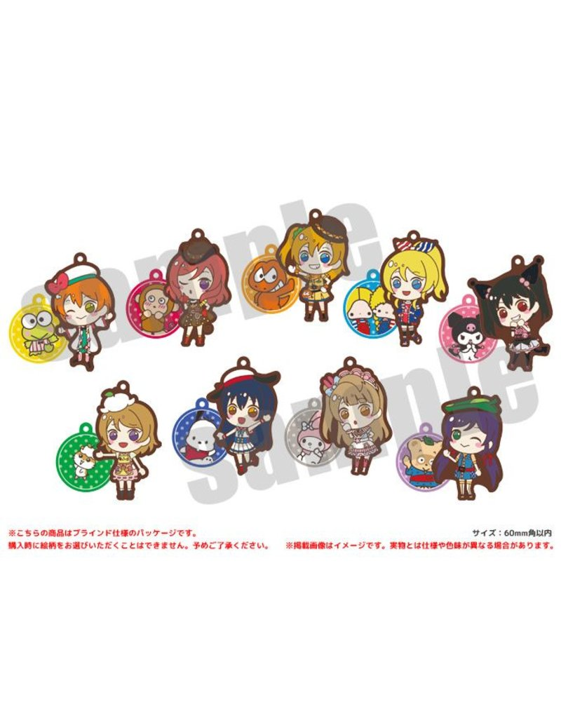 Love Live x Sanrio Rubber Charms μ's