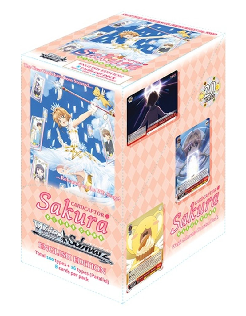 Bushiroad Cardcaptor Sakura Clear Card (Full Booster Box) Weiss Schwarz