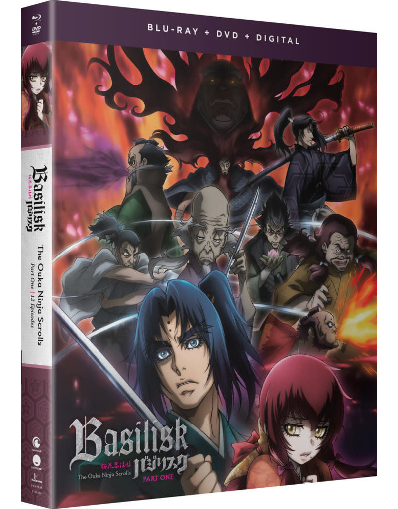 Funimation Entertainment Basilisk The Ouka Ninja Scrolls Part 1 Blu-Ray/DVD