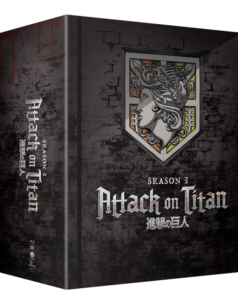 Funimation Entertainment Attack On Titan Season 3 Part 1 Limited Edition Blu-Ray/DVD