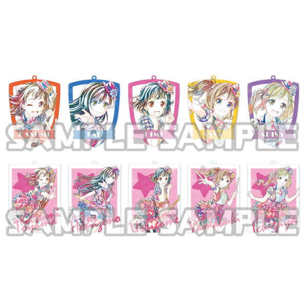 Bushiroad BanG Dream Ani-Art Acrylic Keychain Poppin' Party Vol. 2 Full Box