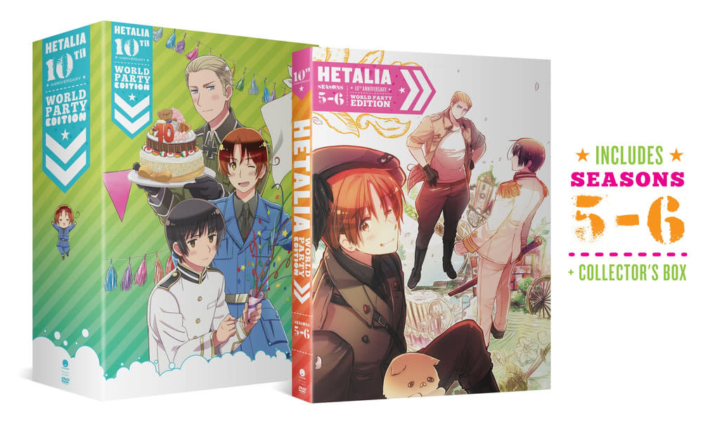 Funimation Entertainment Hetalia 10th Anniversary World Party Collection 2 DVD
