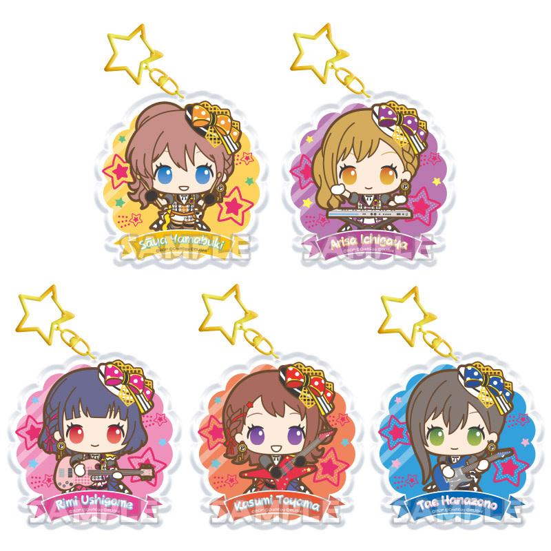 BanG Dream x Sanrio Keychain (Poppin' Party)