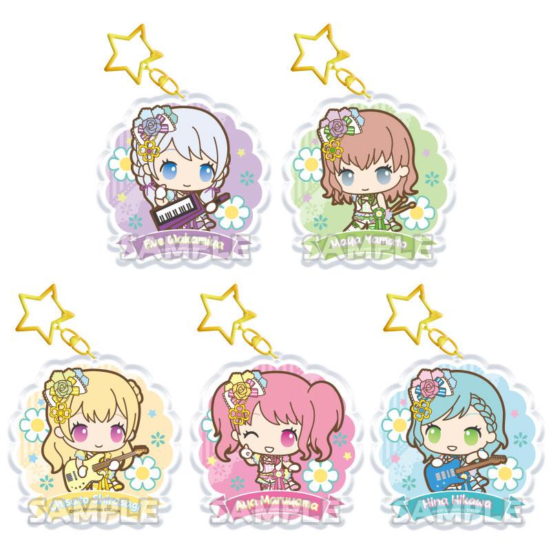 BanG Dream x Sanrio Keychain (Pastel Palettes)
