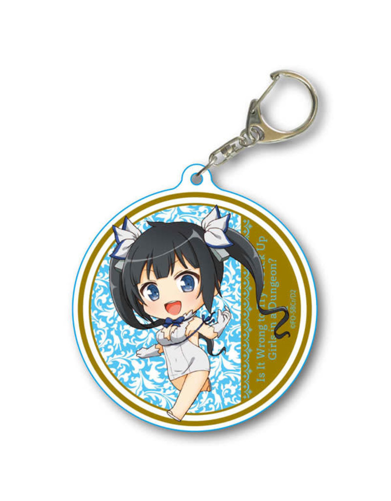 Is It Wrong to Pick Up Girls in a Dungeon? S2 Round Keychain Hestia