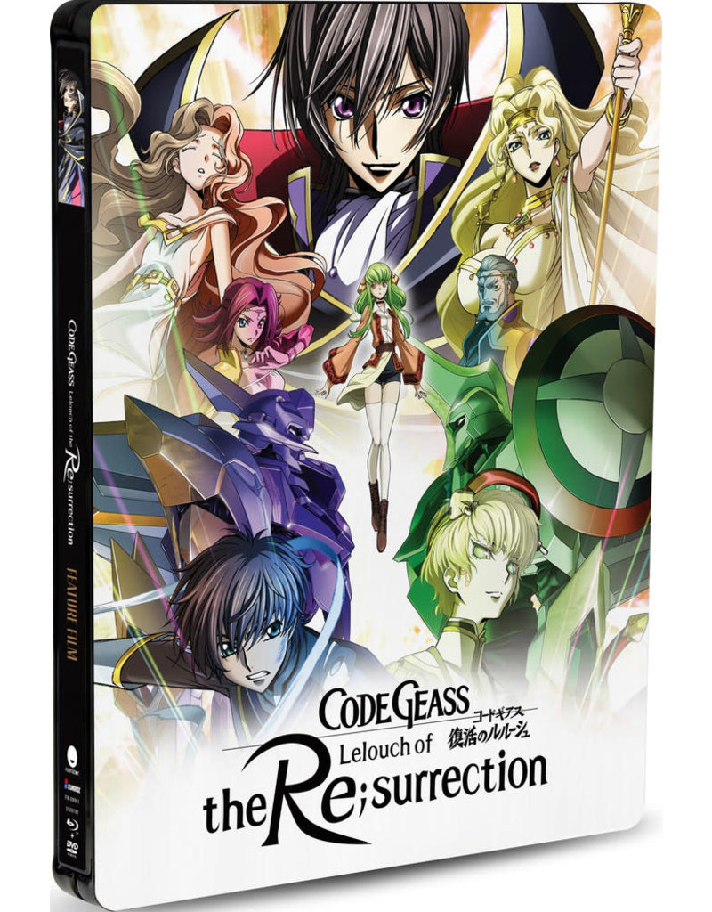 Funimation Entertainment Code Geass: Lelouch Of The Re;Surrection Steelbook Blu-Ray/DVD