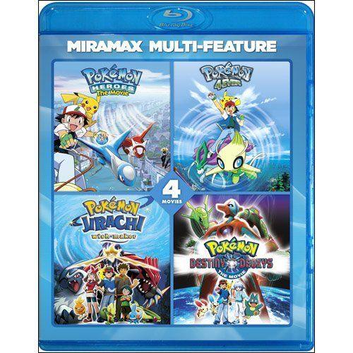 Viz Media Pokemon Movies: Collector's Set (Movies 4/5/6/7) Blu-Ray