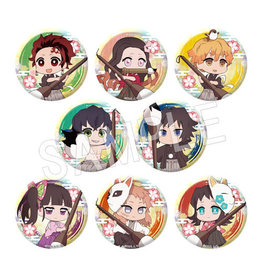 Chugai Contents Demon Slayer Calligraphy Trading Can Badge Set A